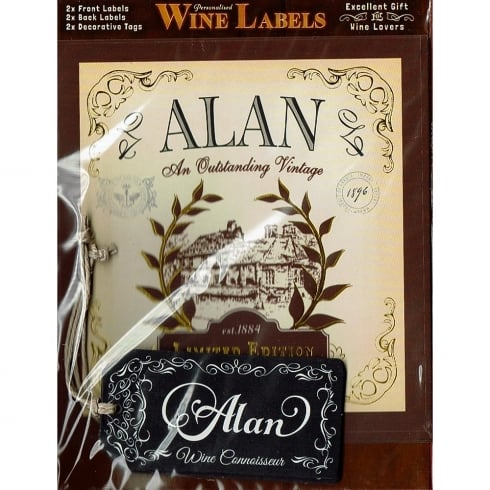 Mulberry Studios Personalised Wine Label Alan