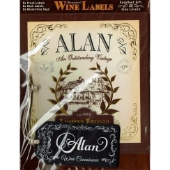 Personalised Wine Label Alan