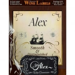 Personalised Wine Label Alex