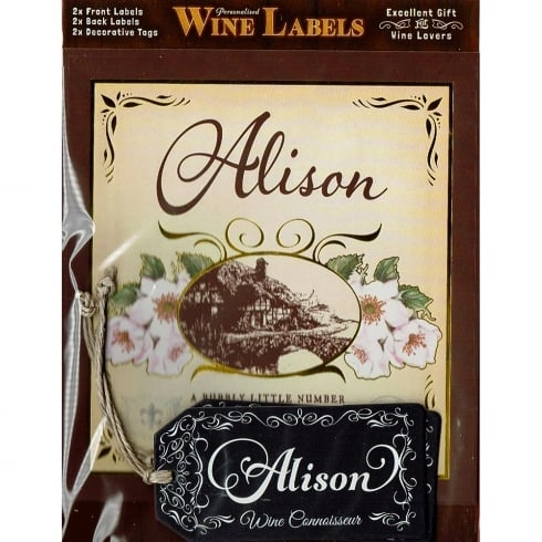 Mulberry Studios Personalised Wine Label Alison