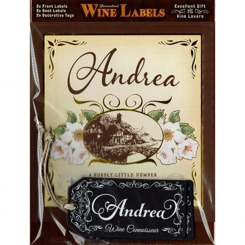 Mulberry Studios Personalised Wine Label Andrea