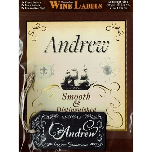 Mulberry Studios Personalised Wine Label Andrew