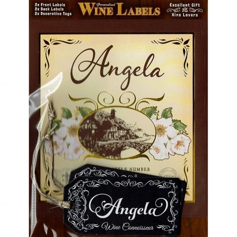 Mulberry Studios Personalised Wine Label Angela