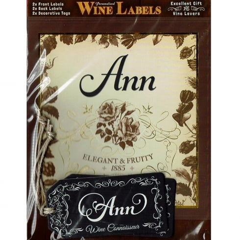 Mulberry Studios Personalised Wine Label Ann