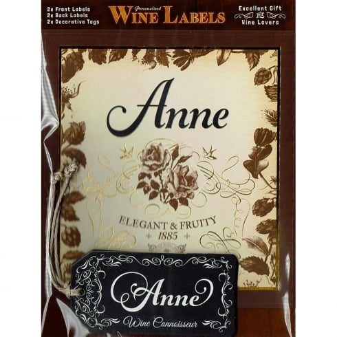 Mulberry Studios Personalised Wine Label Anne