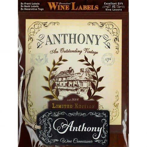 Mulberry Studios Personalised Wine Label Anthony