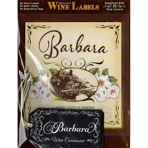Mulberry Studios Personalised Wine Label Barbara