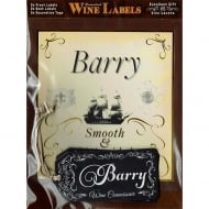 Personalised Wine Label Barry