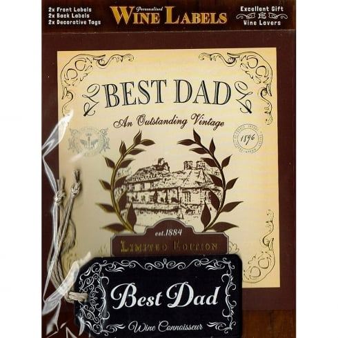 Mulberry Studios Personalised Wine Label Best Dad
