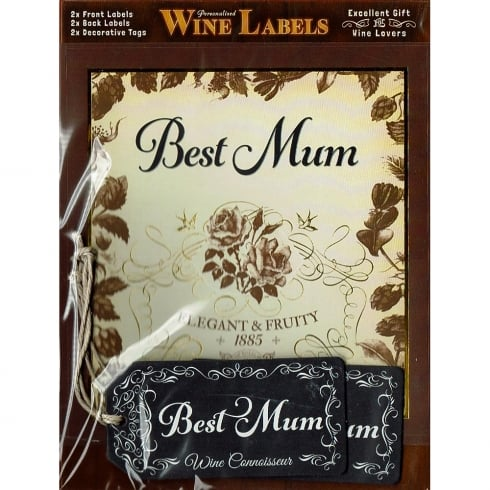 Mulberry Studios Personalised Wine Label Best Mum