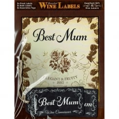 Personalised Wine Label Best Mum