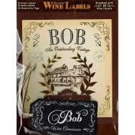 Personalised Wine Label Bob
