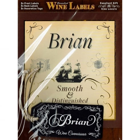 Mulberry Studios Personalised Wine Label Brian