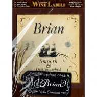 Personalised Wine Label Brian