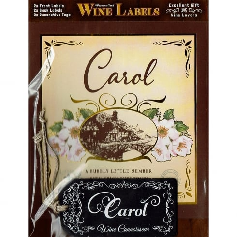 Mulberry Studios Personalised Wine Label Carol