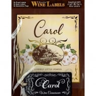 Personalised Wine Label Carol