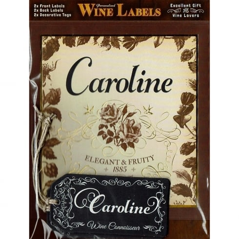 Mulberry Studios Personalised Wine Label Caroline