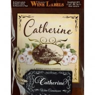 Personalised Wine Label Catherine