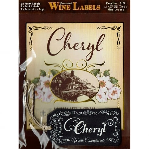 Mulberry Studios Personalised Wine Label Cheryl
