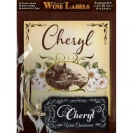 Personalised Wine Label Cheryl