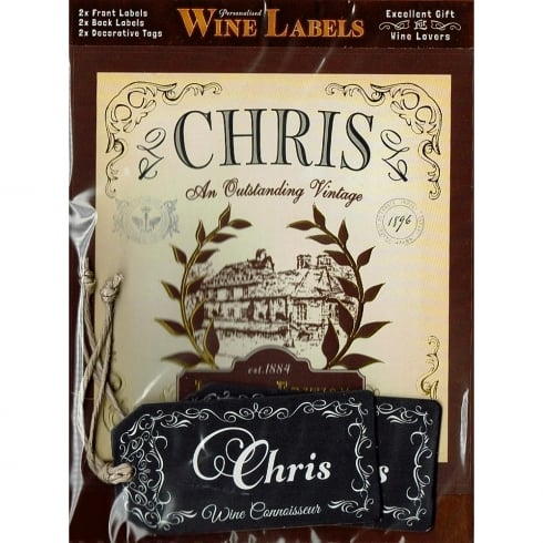 Mulberry Studios Personalised Wine Label Chris