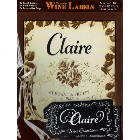 Mulberry Studios Personalised Wine Label Claire