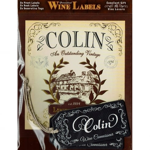 Mulberry Studios Personalised Wine Label Colin