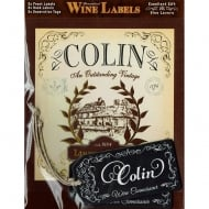 Personalised Wine Label Colin