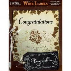 Personalised Wine Label - Congratulations