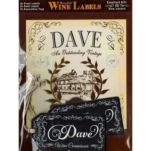 Mulberry Studios Personalised Wine Label Dave