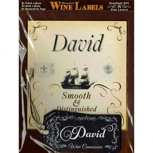 Mulberry Studios Personalised Wine Label David