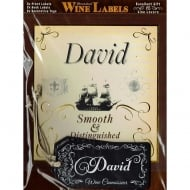 Personalised Wine Label David