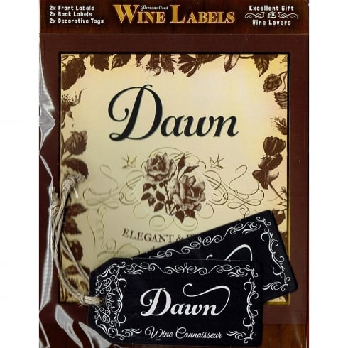 Mulberry Studios Personalised Wine Label Dawn