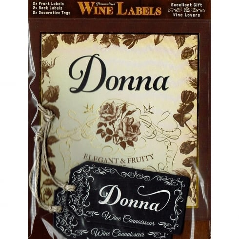 Mulberry Studios Personalised Wine Label Donna