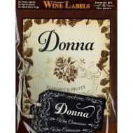 Personalised Wine Label Donna