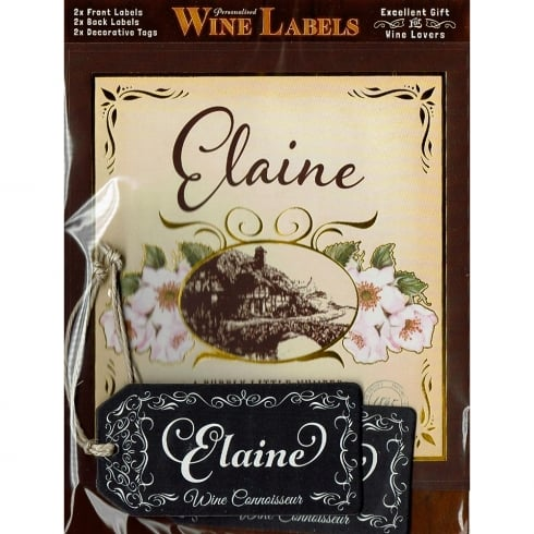 Mulberry Studios Personalised Wine Label Elaine