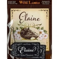 Personalised Wine Label Elaine