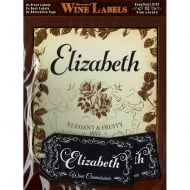 Personalised Wine Label Elizabeth