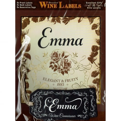 Mulberry Studios Personalised Wine Label Emma