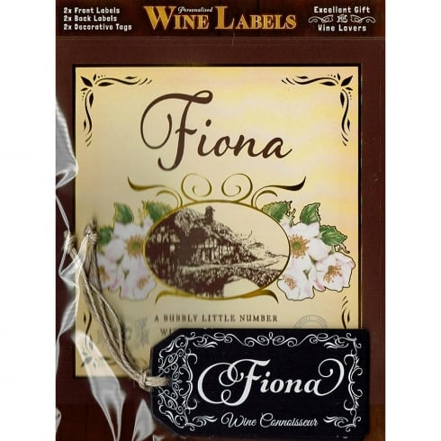 Mulberry Studios Personalised Wine Label Fiona