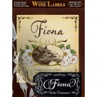Personalised Wine Label Fiona