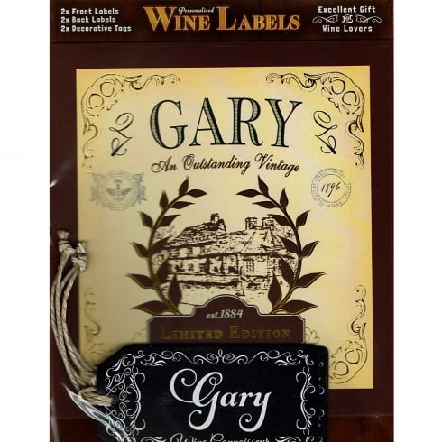 Mulberry Studios Personalised Wine Label Gary