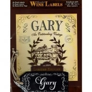 Personalised Wine Label Gary