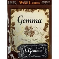 Personalised Wine Label Gemma