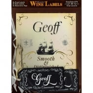 Personalised Wine Label Geoff