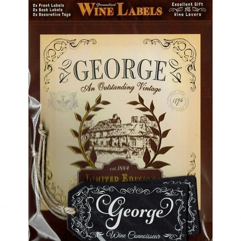 Mulberry Studios Personalised Wine Label George