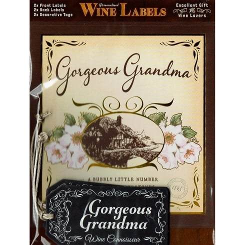 Mulberry Studios Personalised Wine Label Gorgeous Grandma