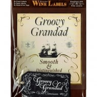 Personalised Wine Label Groovy Grandad