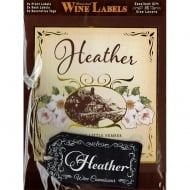 Personalised Wine Label Heather