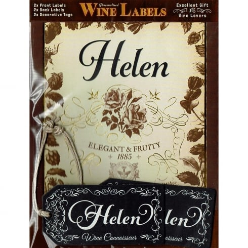 Mulberry Studios Personalised Wine Label Helen